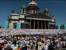 A Giant Choir Will Perform on the Steps of St. Isaac\'s Cathedral