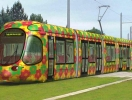 Colorful trams SPB