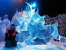 The exhibition of ice sculptures \