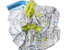Crumpled City Map | St-Petersburg