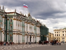 The Hermitage, SP (with the RF flag flying beautifully in the stormy sky)